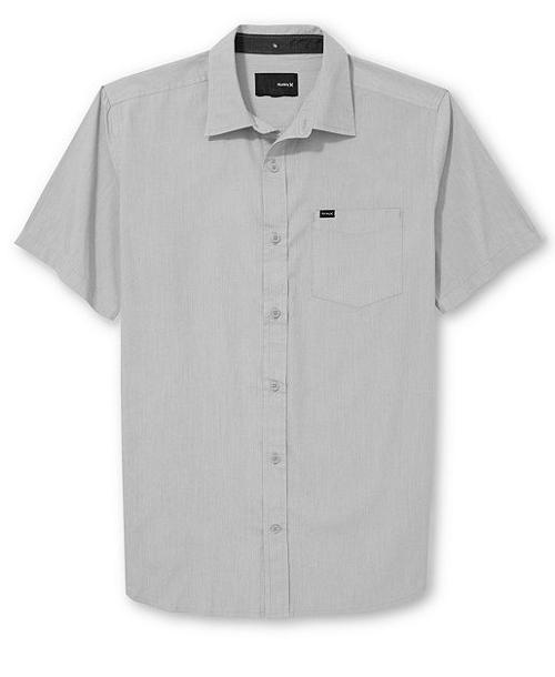 One & Only Short Sleeve Solid Shirt by Hurley in Savages