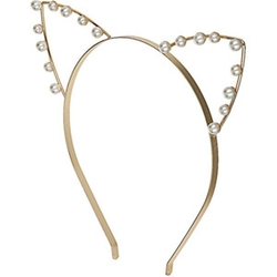 Pearl Cat Ear Headband by Topshop in Scream Queens