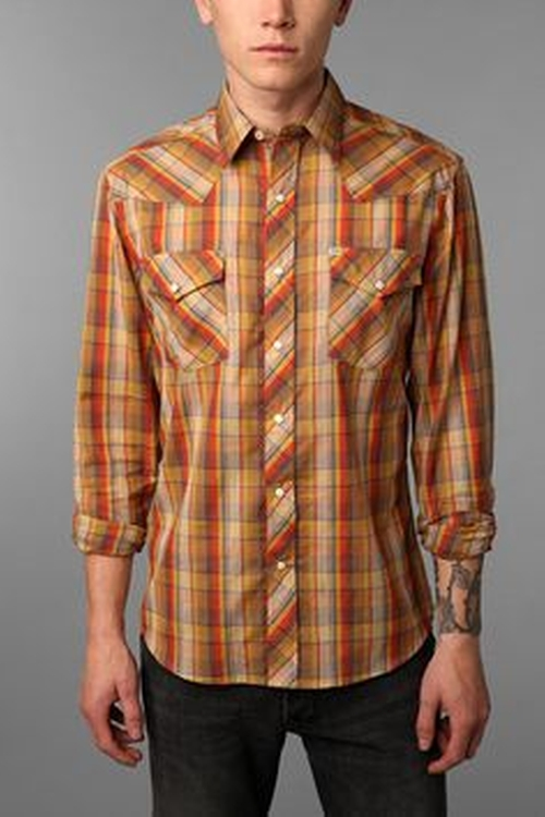 Salt Valley Chuckles Plaid Western Shirt by Urban Outfitters in The Big Bang Theory - Season 9 Episode 9