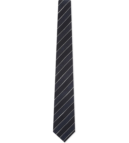 Two-Tone Striped Tie by Brunello Cucinelli in Legally Blonde