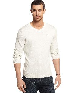 V-Neck Sweater by Tommy Hilfiger in Sabotage