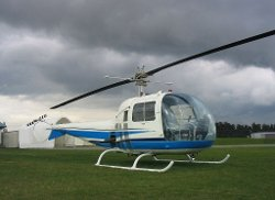 Helicopter by Bell 47J Ranger in The Secret Life of Walter Mitty