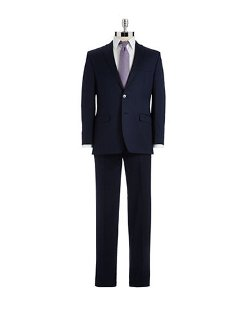 Modern Fit Two-Piece Wool Suit by Calvin Klein in Unfinished Business