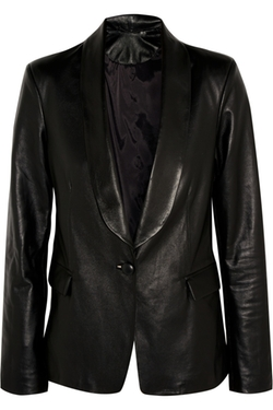 Bailey Leather Blazer by Iris And Ink in Trainwreck
