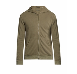 Zip-Through Hooded Cotton Sweatshirt by ATM in Silicon Valley