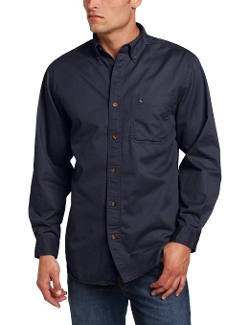 Hines Long Sleeve Button Front Twill Shirt by Carhartt in Barely Lethal