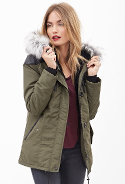 Faux Fur Parka Jacket by Forever21 in If I Stay
