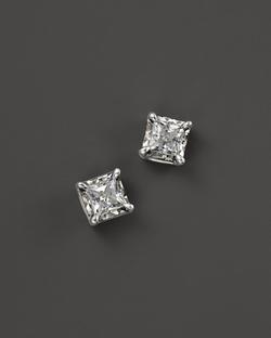 Diamond Princess Cut Stud Earrings by Bloomingdale's in Ballers