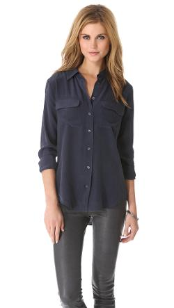 Slim Signature Blouse by Equipment in Laggies