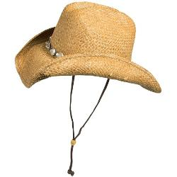 Shell Cowboy Hat - Raffia Straw by Blue Chair Bay in Lucy