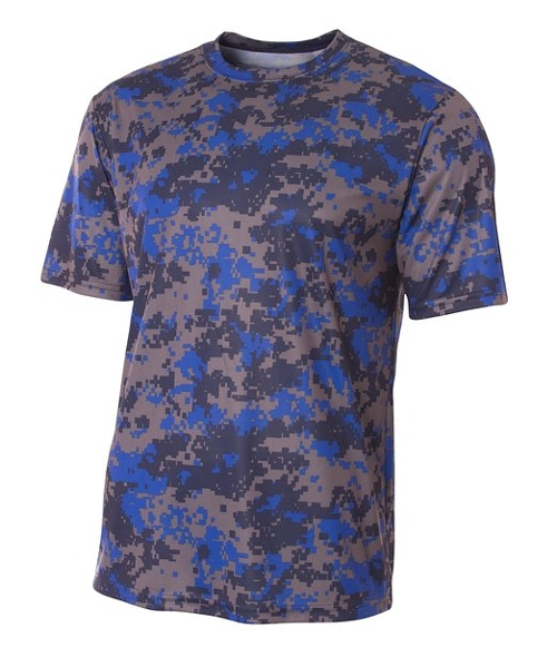 Camo Performance Tee Shirt by A4 in Dope