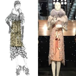 Custom Made Chandelier Dress (Daisy Buchanan) by Catherine Martin (Costume Designer) & Miuccia Prada (Fashion Designer) in The Great Gatsby