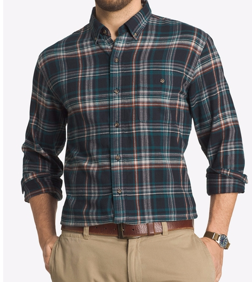 Plaid Flannel Long-Sleeve Shirt by G.H. Bass & Co. in New Girl