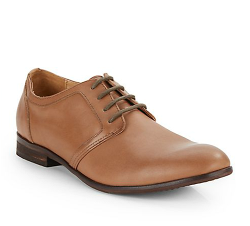 Isaia Leather Lace-Up Shoes by Saks Fifth Avenue Gray in Neighbors