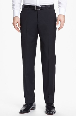 Flat Front Wool Trousers by Boss Hugo Boss in Ant-Man