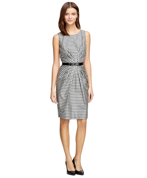 Silk Sleeveless Dress by Brooks Brothers in Regression