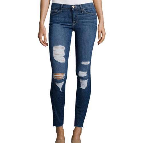 Le Skinny Distressed Jeans by Frame in Pretty Little Liars - Season 7 Episode 10
