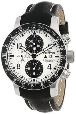 Chronograph Leather Date Watch by Fortis in Ballers