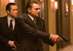 Custom Made Black Suit by Jeffrey Kurland (Costume Designer) and Dennis Kim (Tailor) in Inception