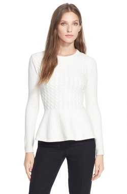 Mereda Cable Knit Peplum Sweater by Ted Baker London in How To Get Away With Murder