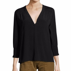 Leo Smocked V-Neck Top by Ba&sh in The Blacklist