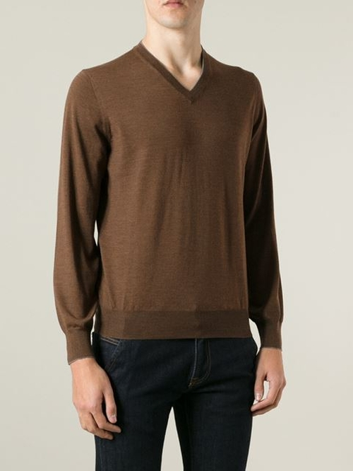 V-Neck Sweater by Brunello Cucinelli in Ricki and the Flash