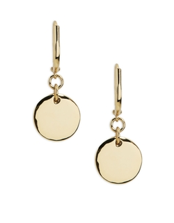 Double Disc Drop Earrings by Lauren Ralph Lauren in Clueless