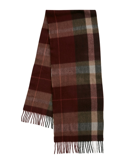 Cashmere Plaid Scarf by Black Brown in Love the Coopers