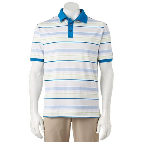 Striped Jacquard Polo Shirt by Ben Hogan in The Infiltrator