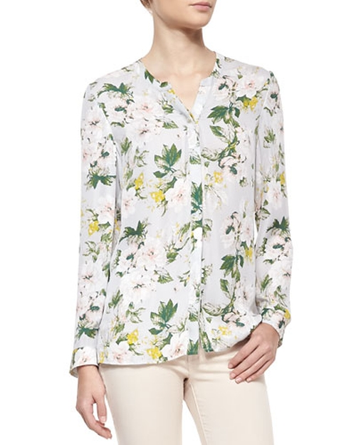 Divitri Floral-Print Silk Blouse by Joie in The Big Bang Theory - Season 9 Episode 10