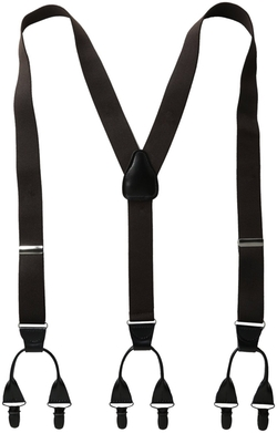 Men's Suspenders 11/4 Inch 6 Clip Button LookPin Clip Closure by Status in Jersey Boys