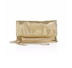 Snake Head Foldover Convertible Clutch by Whiting & Davis in Jane the Virgin