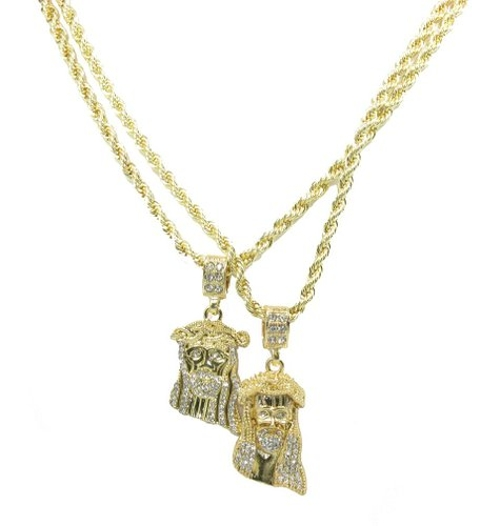 Overlay Mini Charm Pendant Chain Necklace by Rob's Tees in Entourage