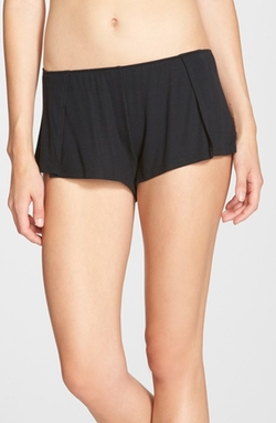 Featherweight Rib Knit Sleep Shorts by Only Hearts in Scream Queens