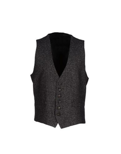 Two-Tone Pattern Vest by Hosio in Joy