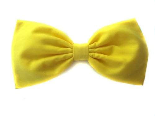 Large Solid Bright Yellow Hair Bow by EmilyRose Couture in Cinderella