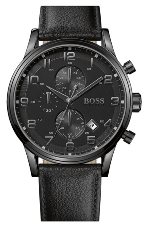 Leather Strap Chronograph Watch by Boss in Magic Mike XXL