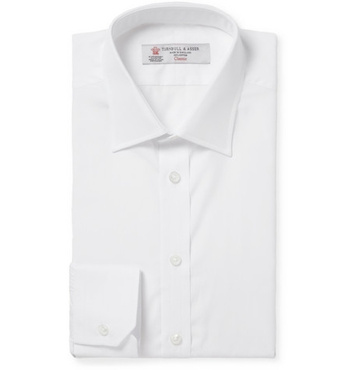 WHITE COTTON SHIRT by TURNBULL & ASSER in Transcendence