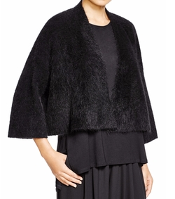 Textured Cropped Cardigan by Eileen Fisher in Empire