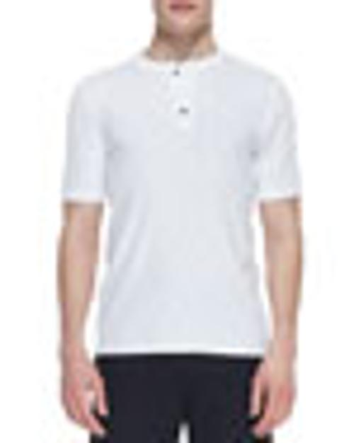 Jersey-Flame Short-Sleeve Henley Shirt by Vince in The Disappearance of Eleanor Rigby