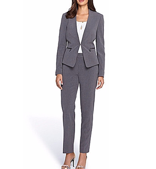 Bi-Stretch Pant Suit by Tahari in The Boss