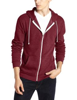 Triblend Zip-Front Hoodie Jacket by Threads 4 Thought in If I Stay