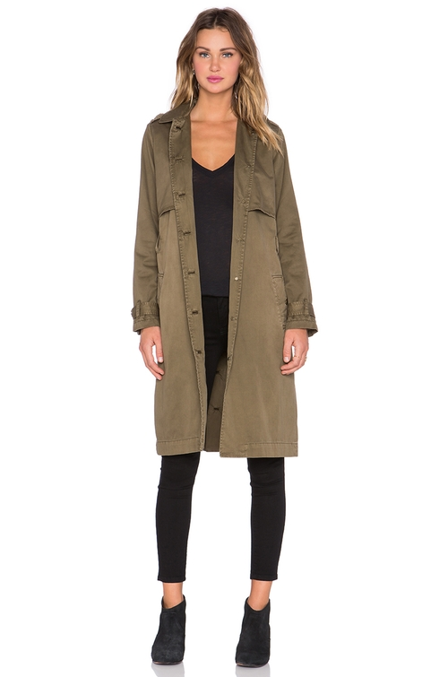 The Storm Flap Trench Coat by Current/Elliott in Keeping Up With The Kardashians - Season 11 Episode 8