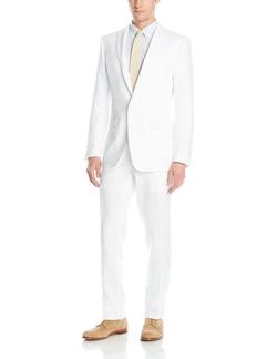 Peak Lapel Suit by Calvin Klein in Black Mass