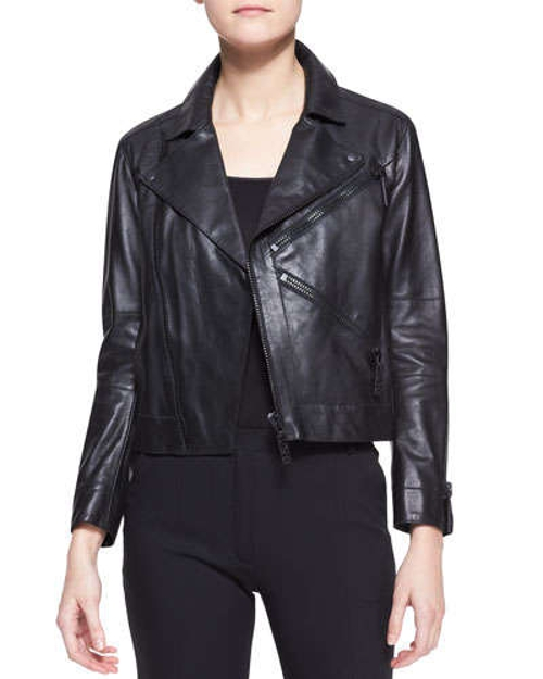 Leather Zip Motorcycle Jacket by Kenzo in Marvel's The Avengers