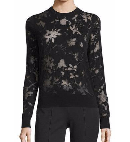 Burnout Floral-Print Techno Top by Michael Kors Collection  in Collateral Beauty