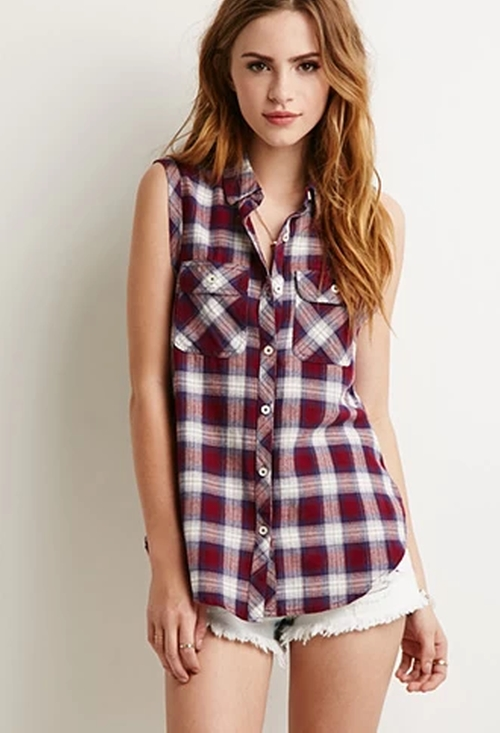 Tartan Plaid Top by Forever 21 in The Big Bang Theory - Season 9 Episode 4