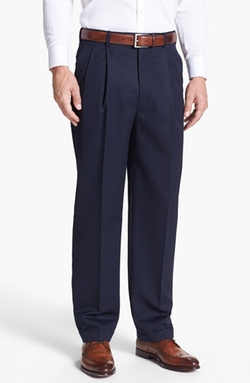 Double Pleated Super 100s Worsted Wool Trousers by JB Britches in The Hundred-Foot Journey