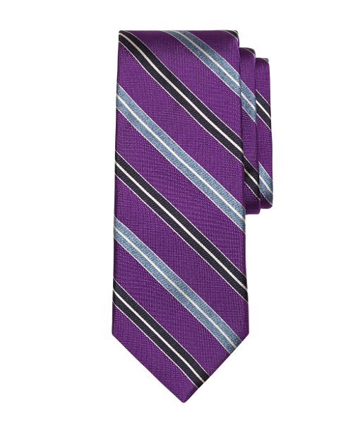 Alternating Spilt Stripe Tie by Brooks Brothers in Get Hard