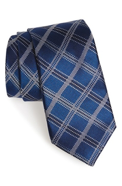 'Irish Poet' Plaid Silk Tie by Nordstrom in The Flash
